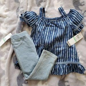 NWT Calvin Klein Jean 18 Month Outfit